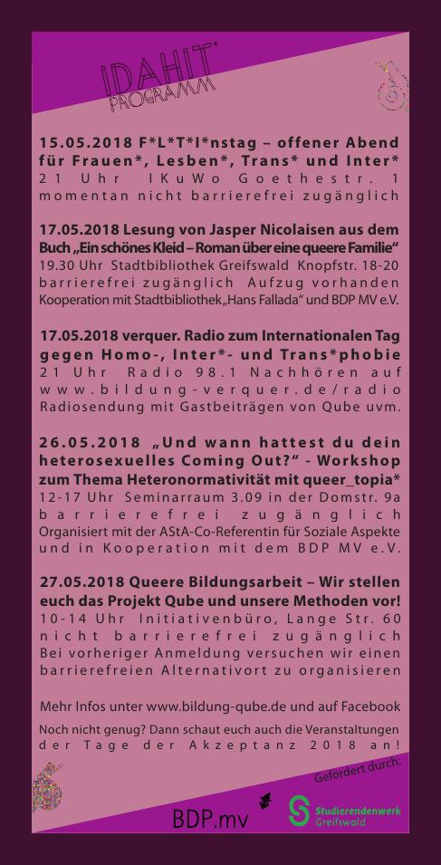 IDAHIT 2018 Programmübersicht