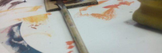 Farbe Pinsel Schablone