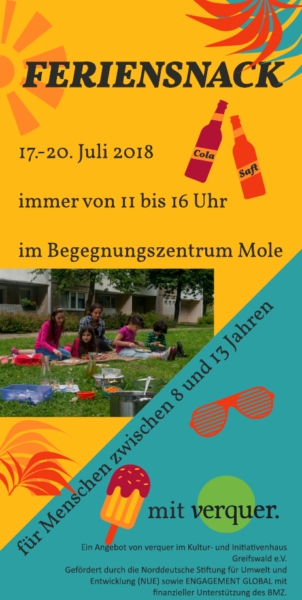 Angebotsflyer für Sommerferienangebot
