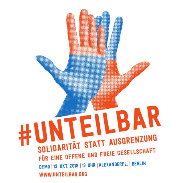 Demoeinladung zu #unteilbar