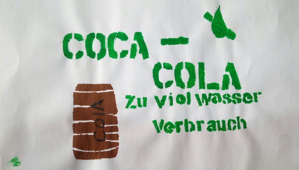 Coca-Cola zu viel Wasserverbauch