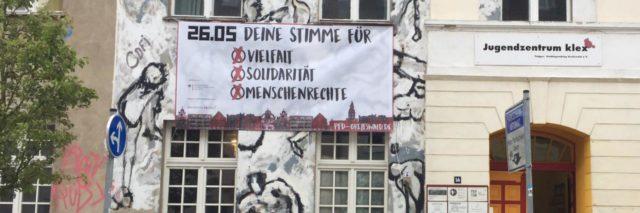 Banner am Klex, 26.05. deine Stimme für...