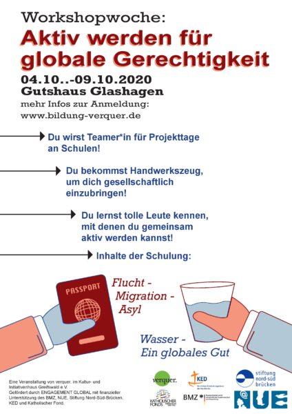 Plakat Einladung zur verquer. Teamer*innenschulung