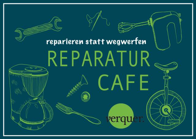 Postkartenansicht Einladung zum Reparatur Café - reparieren statt wegwerfen