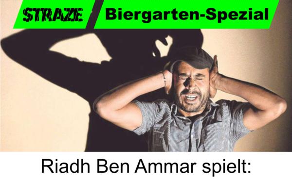 """Bild von Riadh Ben Ammar im Theaterstück """"Die Fall"""""""